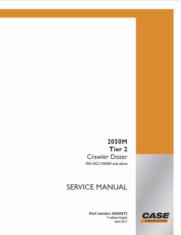 Case 2050M Crawler Dozer Service Manual